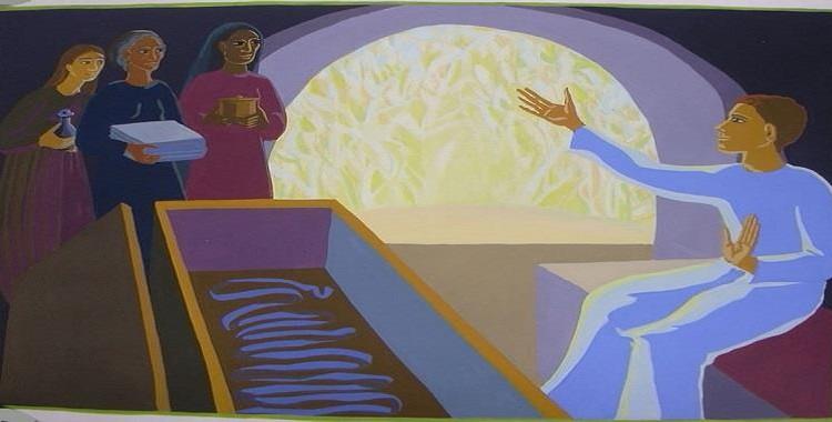 O jovem que anuncia a Ressurreição
